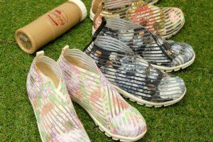 花柄チュールスニーカー|大阪マルニ 素足で履く、かわいくて涼しいスニーカー